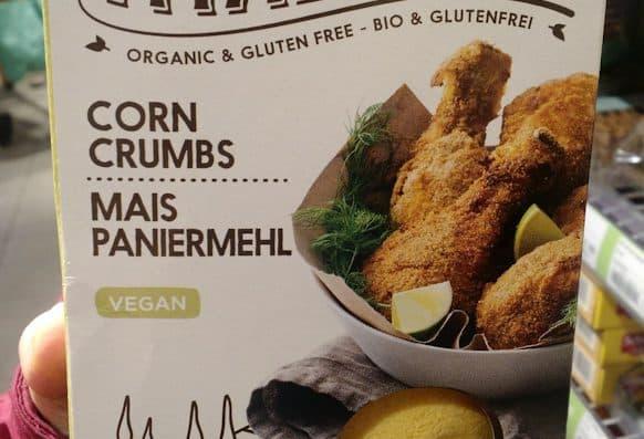 verpakking glutenvrij vegan paneermeel ah, met serveer suggestie kippenbouten?!