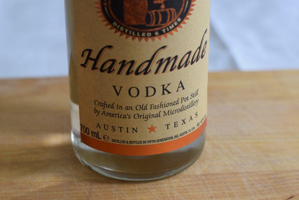 Glutenvrije vodka fles, merk Tito's