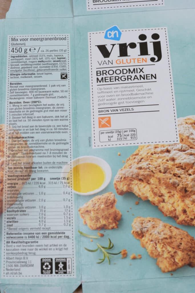 Vrij van gluten meergranen broodmix verpakkingsmateriaal