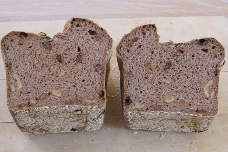 Schar broodmix glutenvrij, rozijnen walnotenbrood