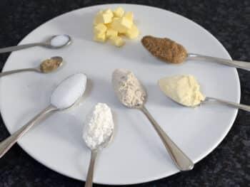 tahinkoekjes mise en place, recept voor koekjes zonder ei